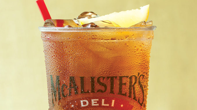 Free Iced Tea At McAlister's On June 29, 2017
