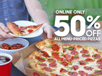 50% Off All Online Pizza Orders At Pizza Hut Through July 23, 2107