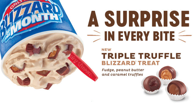 Dairy Queen Introduces New Triple Truffle Blizzard