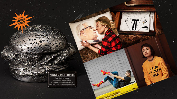 KFC Opens Online Merch Shop Featuring A $20,000 Zinger-Shaped Meteorite