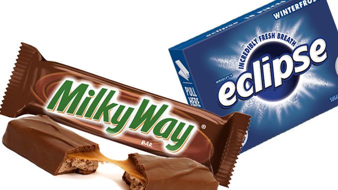 Free Milky Way Bar Or Eclipse Gum At Pilot Flying J From August 21-25 With Drink Purchase