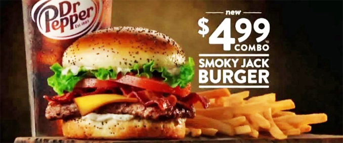 New Smoky Jack Burger Combo