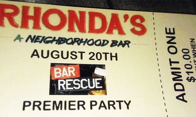 Rhonda's Bar Rescue Viewing Party Ticket