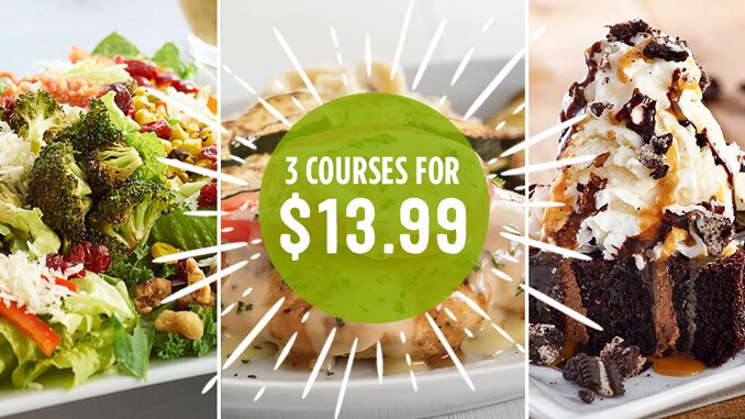 Ruby Tuesday Offers 3 Course Meal Deal for $13.99 Through August 27, 2017