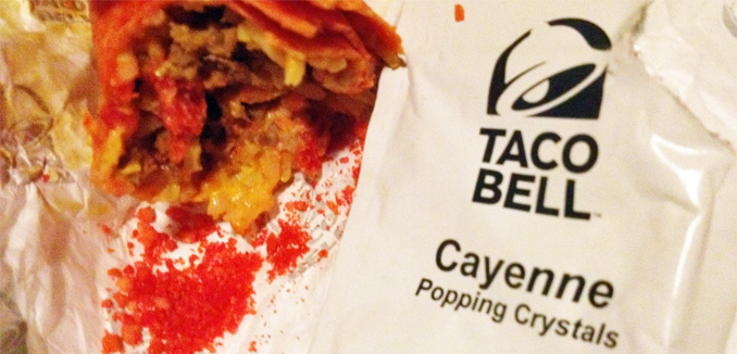 Taco Bell Cayenne Popping Crystals