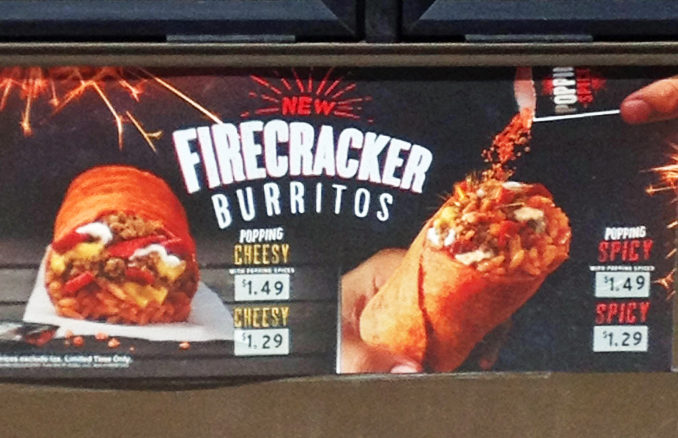 Taco Bell Spotted Testing New Firecracker Burritos