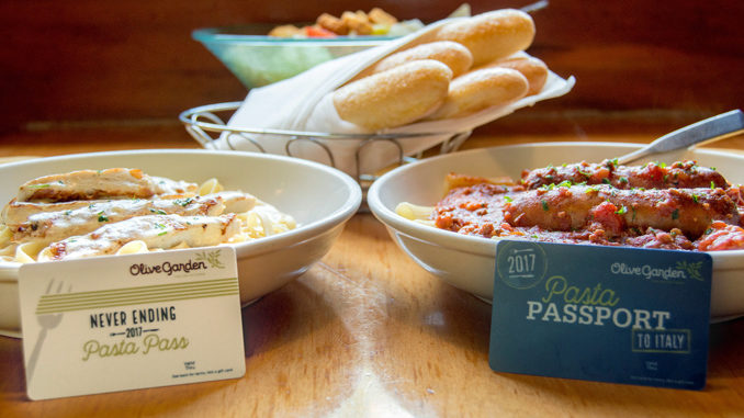 Olive Garden's Never Ending Pasta Pass Returns On September 14, 2017 With A Big Twist