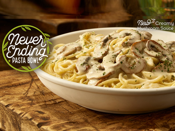 All The Pasta You Can Eat With Olive Garden S Never Ending: Olive Garden Brings Back Never Ending Pasta Bowl Offer