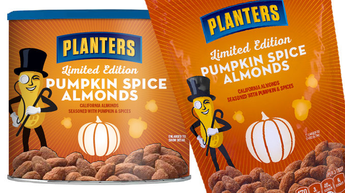 Planters Pumpkin Spice Almonds Return For Fall 2017