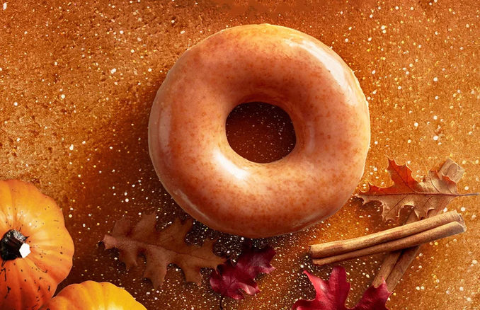 Pumpkin Spice Doughnuts Return To Krispy Kreme On October 6, 13, 20 and 26, 2017