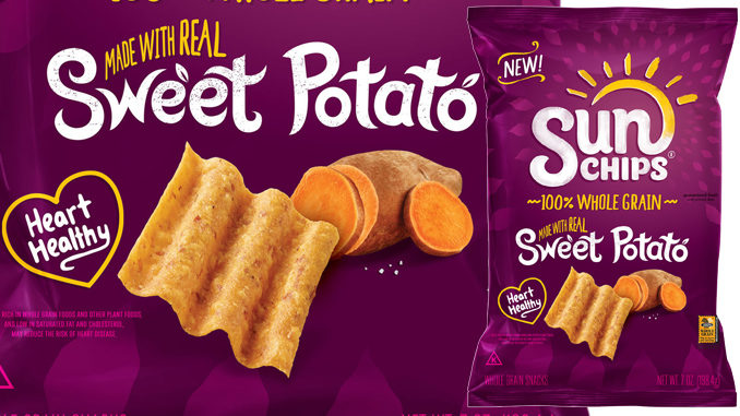 sun chips introduces new sweet potato flavor chew boom