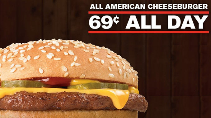 69-Cent Cheeseburgers At Checkers And Rally's‏ On November 30, 2017