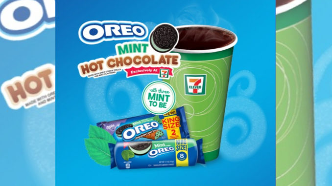 7-Eleven Pours New Oreo Mint Hot Chocolate