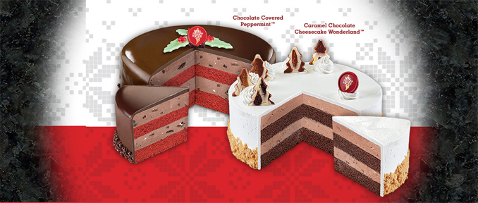 Caramel Chocolate Cheesecake Wonderland and Chocolate Covered Peppermint Cakes