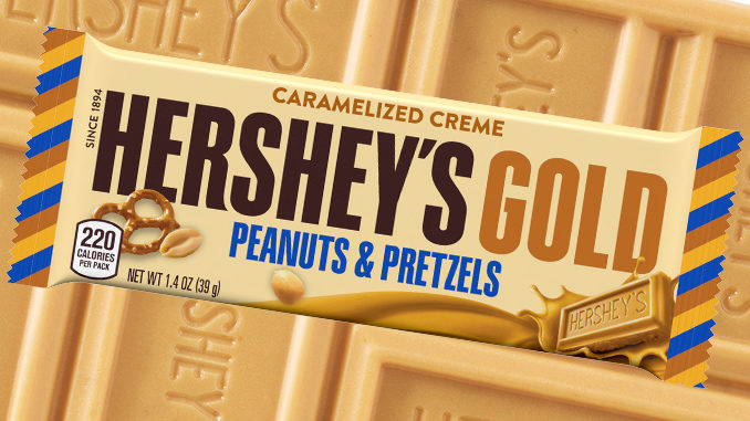 Hershey's Unveils New Gold Bars Featuring Caramelized Creme