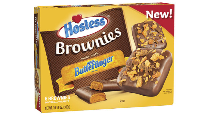 Hostess Bakes Up New Brownies Made With Nestlé Butterfinger