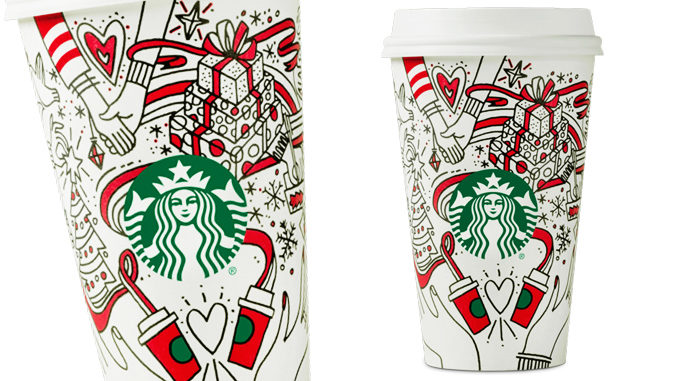 Starbucks Unveils Color-It-In-Yourself 2017 Holiday Cups