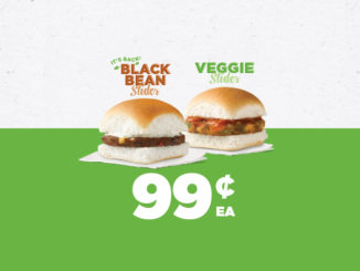 99-Cent Black Bean Sliders And Any Size 99-Cent Coffee At White Castle Through February 10, 2018