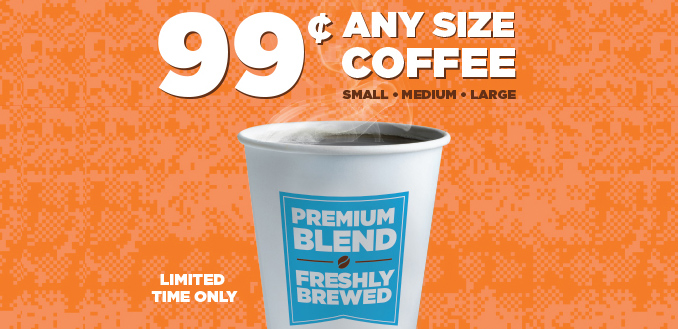 White Castle 99 Cent Any Size Coffee