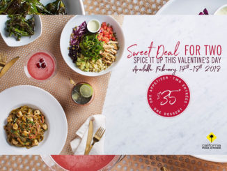 California Pizza Kitchen Serves Up A 'Sweet Deal for Two' From February 14-18, 2018