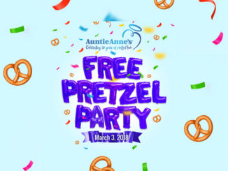 Free Auntie Anne's Pretzels On March 3, 2018 If A Million Fans 'RSVP' Birthday Bash Offer