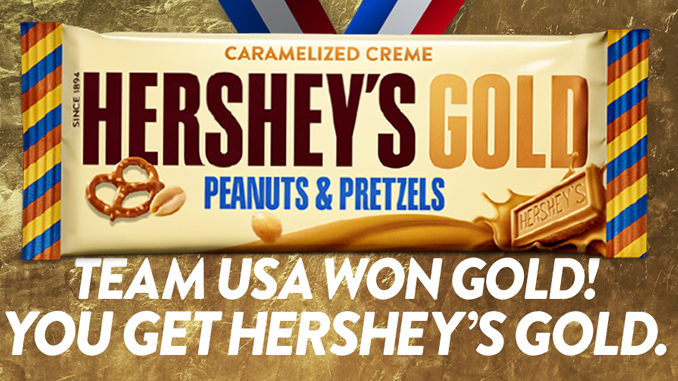 Here's How To Score A Free Hershey's Gold Bar Whenever Team USA Wins Olympic Gold