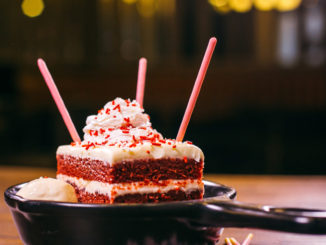 TGI Fridays Introduces New Red Velvet Sparkler Cake Featuring Strawberry Pocky