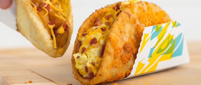 Breakfast Toasted Cheese Chalupa