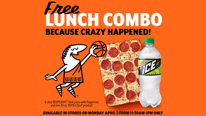 Free Lunch Combo At Little Caesars On April 2, 2018