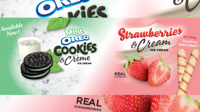 Yogurtland adds New Strawberries & Cream Ice Cream and Mint Oreo Cookies & Creme Ice Cream