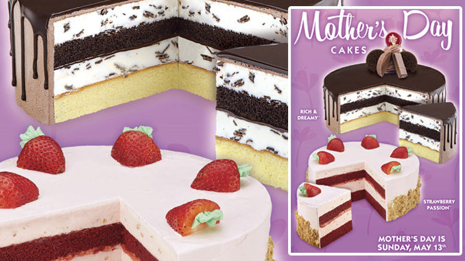 Cold Stone Creamery Offers Strawberry Passion And Rich & Dreamy Chocolate Cakes For Mother's Day 2018