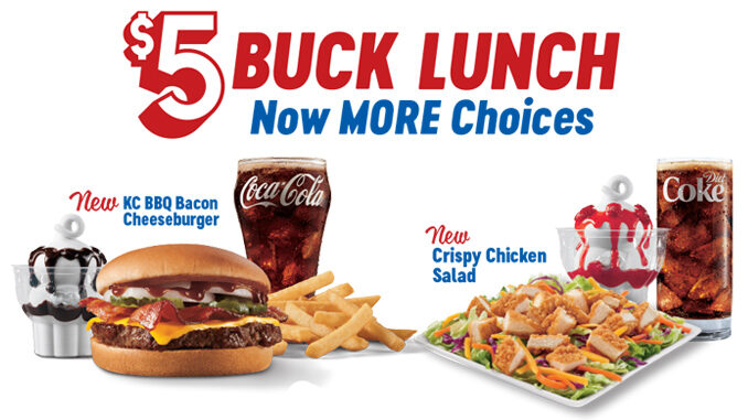 Dairy Queen $5 Buck Lunch Menu Now Includes Crispy Chicken Salad And KC BBQ Bacon Cheeseburger