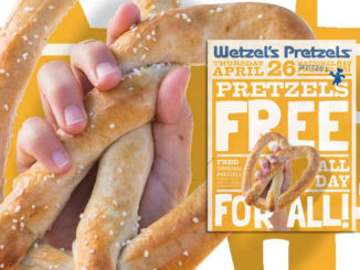 Free Pretzels At Wetzel's Pretzels On April 26, 2018
