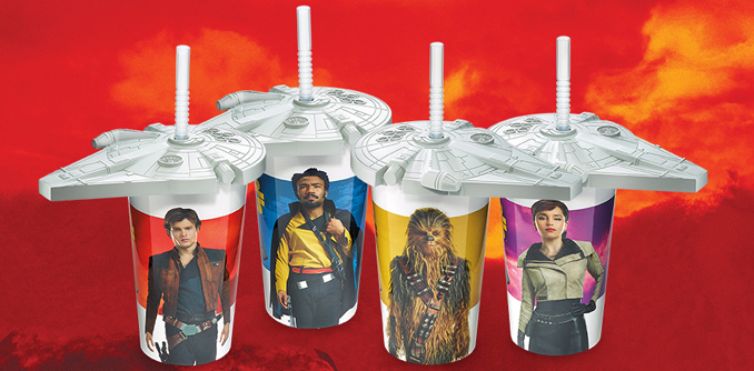Limited edition Solo: A Star Wars Story collector cups