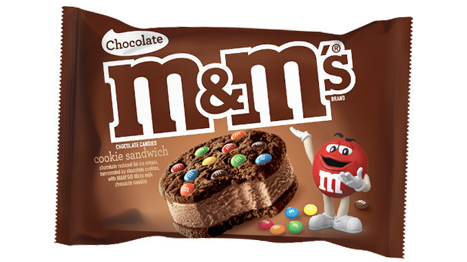M&M's Launches New Chocolate Cookie Ice Cream Sandwiches