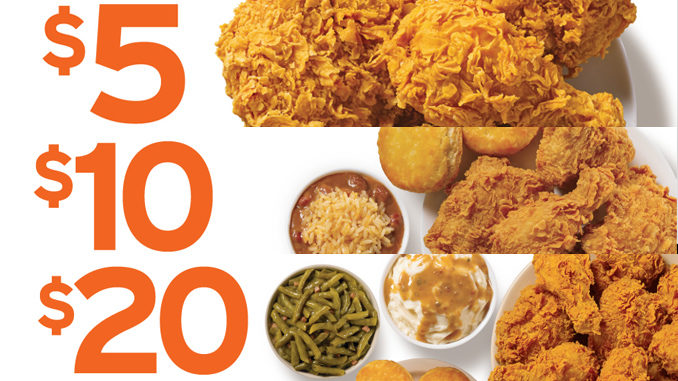 picture relating to Popeyes Coupons Printable known as Popeyes Discounts $5, $10 And $20 Blended Fowl Specials - Chew Increase