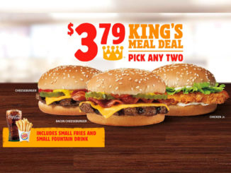 Burger King Offers New $3.79 King's Meal Deal