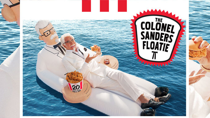 KFC Is Giving Away Free Colonel-Shaped Pool Floaties