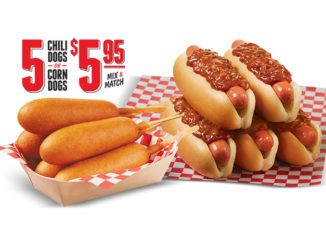 Mix Or Match 5 Chili Dogs Or Corn Dogs For $5.95 At Wienerschnitzel