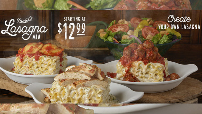 Olive Garden Launches First Ever Create Your Own Lasagna Chew Boom