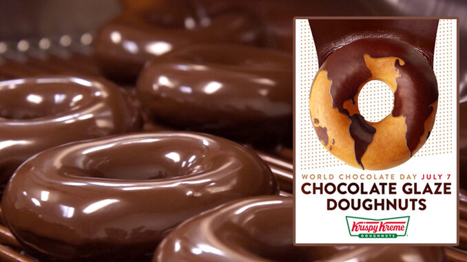 Chocolate Glaze Doughnuts Return To Krispy Kreme On July 7, 2018