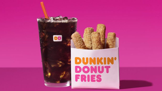 Dunkin' Donuts Introduces New Donut Fries And New Brown Sugar Cold Brew