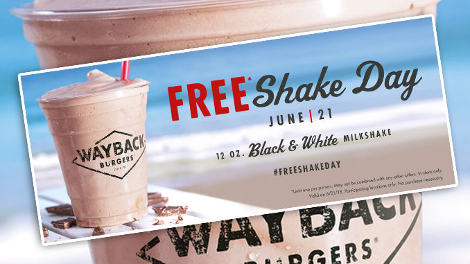 Free Black & White Milkshakes At Wayback Burgers On June 21, 2018