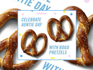 Buy One, Get One Free Pretzel At Auntie Anne's Through July 30, 2018