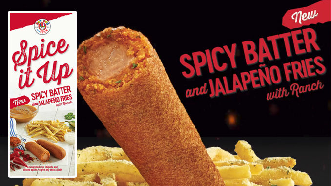 Hot Dog On A Stick Unveils New Spicy Batter And Jalapeno Fries With Ranch Dipping Sauce