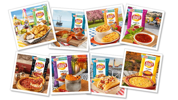 "Lay's Unveils 8 New ""Tastes of America"" Potato Chip Flavors"