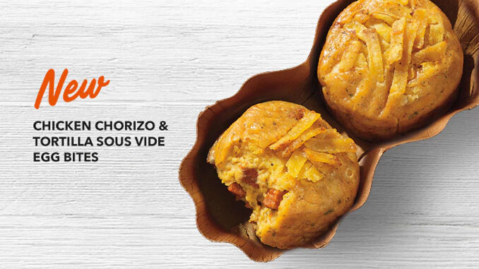 Starbucks Adds New Chicken Chorizo & Tortilla Sous Vide Egg Bites
