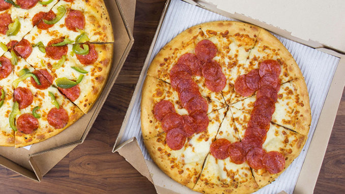 $1 Medium Pepperoni Pizza With Purchase Of Any Large Pizza At Pizza Hut On September 20, 2018