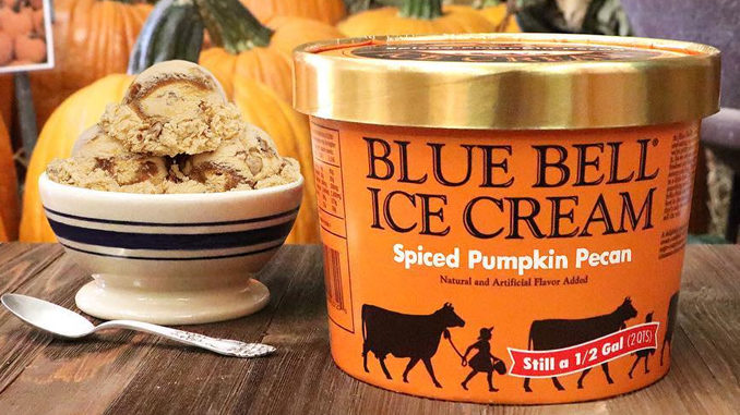 Blue Bell Brings Back Spiced Pumpkin Pecan Ice Cream