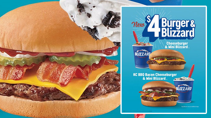 Dairy Queen Introduces New $4 Burger And Blizzard Treat Deal